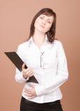 businesswoman plików Fotografia Stock