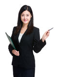 Businesswoman point out Royalty Free Stock Photography