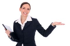 Businesswoman Pointing Stock Images