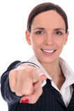 Businesswoman Pointing Royalty Free Stock Photos