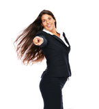 Businesswoman pointing Stock Photography