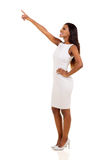 Businesswoman pointing empty space Royalty Free Stock Image