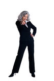 Businesswoman pointing with finger Royalty Free Stock Photos