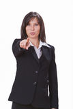 Businesswoman pointing the finger Royalty Free Stock Photography