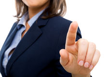 Businesswoman pointing Royalty Free Stock Photo