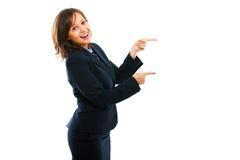 Businesswoman pointing Stock Photos