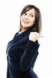Businesswoman pointing Royalty Free Stock Photos