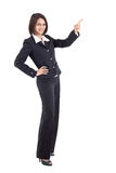 Businesswoman pointing something Royalty Free Stock Photo