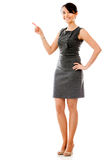 Businesswoman pointing something Stock Image