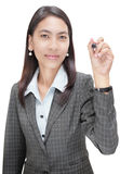 Businesswoman pointing w marker Royalty Free Stock Images