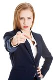 Businesswoman pointing on you Stock Photo