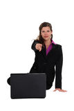 Businesswoman pointing at you Royalty Free Stock Image