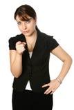 Businesswoman points Stock Photo