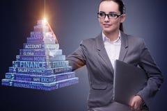 The businesswoman in ponzi scheme concept Stock Photo