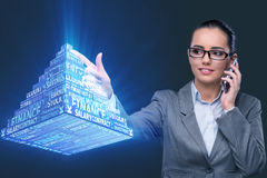 The businesswoman in ponzi scheme concept Royalty Free Stock Photography