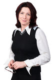 Businesswoman portrait. Studio shot. Portrait of a business woman 35 years stock photography