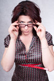 Businesswoman portrait. Studio shot. Portrait of a business woman 35 years royalty free stock photo