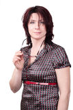 Businesswoman portrait. Studio shot. Portrait of a business woman 35 years royalty free stock photography