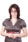 Businesswoman portrait. Studio shot. Portrait of a business woman 35 years royalty free stock images