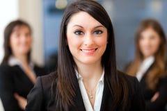 Businesswoman portrait with her team Stock Photo