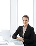 Businesswoman portrait in office Royalty Free Stock Photo