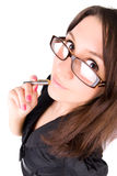 businesswoman portrait young Στοκ εικόνες με δικαίωμα ελεύθερης χρήσης