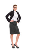 Businesswoman posing with hands on hip Stock Photo