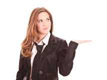 Businesswoman posing isolated Stock Image