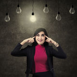 Businesswoman Positive Thinking Royalty Free Stock Photography