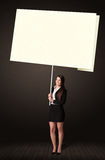 Businesswoman with post-it paper Royalty Free Stock Image