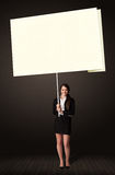 Businesswoman with post-it paper Royalty Free Stock Images