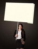 Businesswoman with post-it paper Stock Image