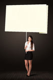 Businesswoman with post-it paper Stock Photos