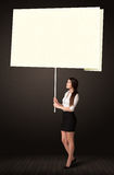 Businesswoman with post-it paper Stock Photography