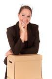 Businesswoman Postal  Package Stock Photos