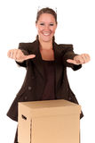 Businesswoman Postal  Package Stock Images