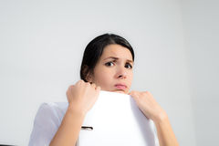Businesswoman with a pragmatic expression Stock Photography