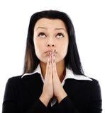 Businesswoman praying Royalty Free Stock Photography