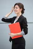Businesswoman preparing for meeting Royalty Free Stock Photos