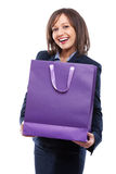 Businesswoman with present Stock Image