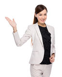 Businesswoman present Royalty Free Stock Photography