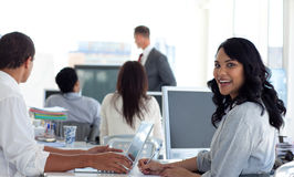 Businesswoman in a presentation Stock Photography