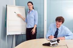 Businesswoman presentation Stock Photo