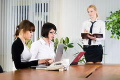 Businesswoman presentation Stock Images