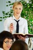 Businesswoman presentation Royalty Free Stock Photo