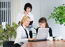 Businesswoman presentation Stock Photos