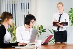Businesswoman with presentation Stock Photo