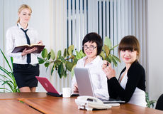 Businesswoman with presentation Royalty Free Stock Images