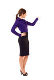 Businesswoman presenting Royalty Free Stock Photography