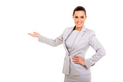 Businesswoman presenting Stock Photos